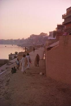 Allen and Peter at Dusk in Benares