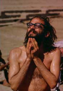 Allen Ginsberg immersed in the Ganges