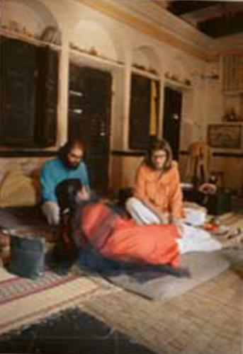 Allen, Peter & Manjula in Benares room