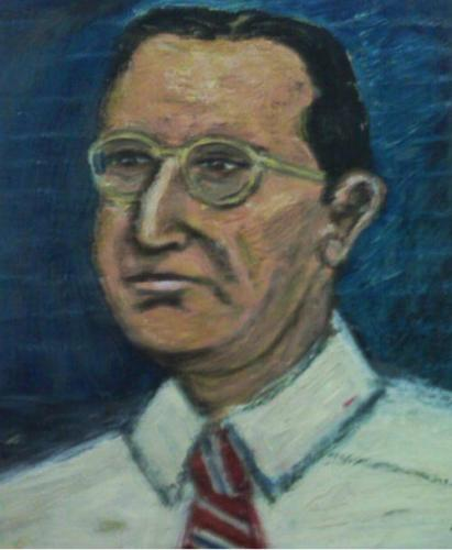 """Portrait of my father, February 1946, age 34"""